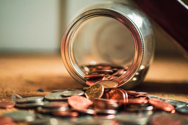 Rozsypane pieniądze
